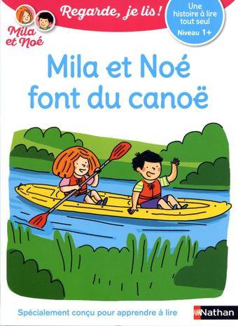 Mila et Noé font du canoë
