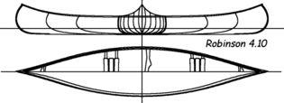 Construire le canoë bois Robinson 4,10m - plans